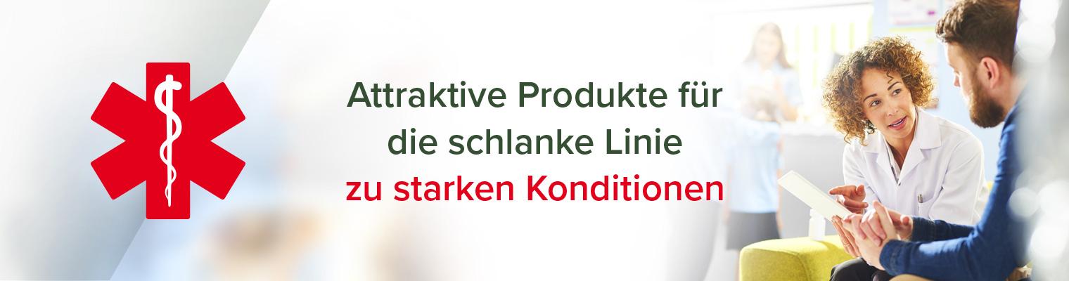 Attraktive Produkte für die schlanke Linie zu starken Konditionen